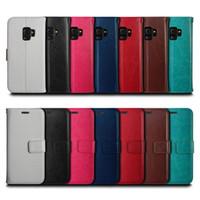 Кошелек Раскладной телефон чехол TPU крышка кожи Мульти-карты слот телефон держатель для Samsung Galaxy Note 9 S8 S9 Plus A8 / 2018 Plus