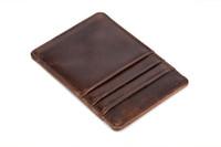 Yeni en erkek deri Kart paketi çoklu kart-bit retro tarzı kart çanta moda eğlence iş cüzdan kredi kartı tutucu