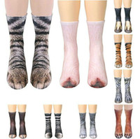 2018 Hot Sales 3D Printing Animal Foot Hoof Socks Cat Dog Ti...