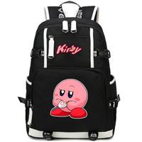 Kirby mochila Frete grátis daypack Dos Desenhos Animados jogo mochila Mochila De Lazer Esporte saco de escola Ao Ar Livre pacote de dia