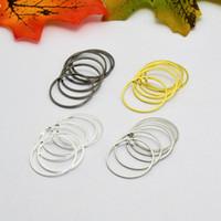 100pcs 20mm metallo rotondi del cerchio Connettori orecchini / pendenti Gioielli fai da te Trovare