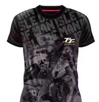 Isle of Man TT-T-Shirt mit Sommermotorradfahren, kurzärmeliges Rennkultur-Kultur-Shirt, Trocknen im Gelände