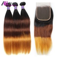 10A Allove Straight T1b 4 27 Peruvian Virgin Hair Extension ...
