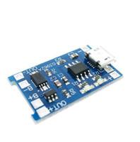 ¡Envío gratis! 3 unids / lote 5 V 1A Micro USB 18650 Cargador de Batería de Litio Cargador de Módulo + Protección Funciones Dual TP4056