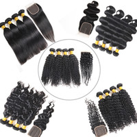 100% Unprocessed Body Wave Bundles with Frontal Brazilian De...