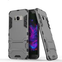 cas de téléphone design unique pour Samsung Galaxy s8 s9, plus la note 9 pour l'iPhone 6 6s 7 8 Plus Slim Case Combo Armure hybride couverture de luxe 2 en 1