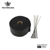 """PQY RACING - 2"""" x 5 metro Involucro termico, ordito dell'intestazione, filo di ordito d'isolamento dello scarico, tubo di scarico di ordito + 6 pc 20cm Legami PQY1805"""