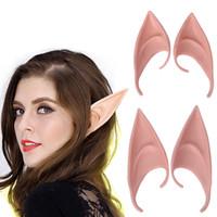 Gizemli Melek Elf Kulaklar peri Cosplay Aksesuarları Cadılar Bayramı dekorasyon Vampir Parti Lateks Yumuşak Sivri Protez Yanlış kulaklar Sahne