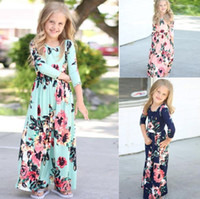 Kids Baby Girl Fashion Boho Long Maxi Dress Clothing Long Sl...