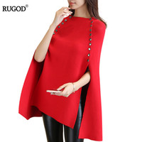 RUGOD 2017 Christmas Sweater Solid Long Batwing Sleeve Women...