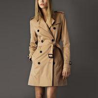 NEW Winter Fashion Classic European Trenchcoat khaki / Schwarz Zweireihig Frauen Pea Coat hohe Qualität
