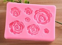 New Kitchen Dining Bar Sugarcraft Rose Flower silicone mold ...