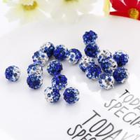 100 stücke 10mm Doppel Farbe Stil Runde Kugel Kristall Strass Perlen für DIY Schmuck Machen