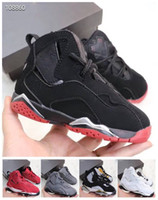 New 7 Basketball Shoes Kids 7s VII Red Black Sports Basketba...