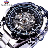 Forsining Silver Stainless Steel Mens Watches Luxury Top Bra...
