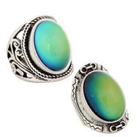 Neues Entwurfs-2PCS / Set kühle Colleges-Stimmungs-Farben-Änderungs-Ring-antikes Silber überzogener veränderbarer Ring RS019-033