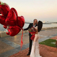 18 인치 심장 사랑 풍선 풍선 호 일 풍선 결혼식 발렌타인 데이 장식 헬륨 풍선 당신을 사랑합니다 Globos GA550