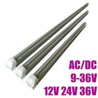 DC / AC 9-36V 4FT LED 튜브 조명 T8 18W V 모양의 통합 12V 36V LED 쿨러 조명 3000K 4000K 6000K 24V 형광 전구