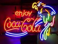 GreeneerG كولا الكوك ضوء النيون تسجيل الرئيسية البيرة بار حانة غرفة الترفيه أضواء لعبة نوافذ زجاجية جدار علامات 24 * 20 بوصة