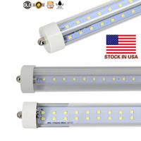 En forma de V FA8 R17D 6 pies refrigerador de la puerta del LED tubos T8 LED integrado Tubos lados dobles SMD2835 Led luces fluorescentes CA 85-265V UL DLC