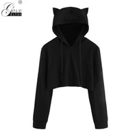 Gold Hands Autumn Winter Women Hooded Solid Short Cotton Swe...