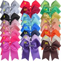 24 pcs 6 inch Cheer Bow WITH Clips Cheer leading bow Hair cl...