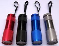 Lampade UV portatili 9 LED Mini torce a LED Torce a LED per torce da campeggio Super Bright a LED