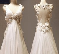 Sexy 2018 Beach Wedding Dresses V Neck Sheer Back A Line Swe...