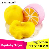 11x 10cm Jumbo Squishy Zitrone Kawaii Squishy Süße Frucht Langsam steigende Dekoration Handyanhänger Squishes Geschenkspielzeug Puppe Dekompressionsspielzeug