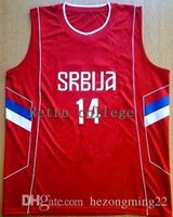 New Arrival.  14 NIKOLA JOKIC Camiseta Canotta Serbia EUROBASKET basketball  jersey Mens Embroidery Stitched Custom any Number and name e77af79fb
