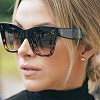 Oulylan Klasik Kedi Göz Güneş Kadınlar Vintage Boy Gradyan Güneş Gözlükleri Shades Kadın UV400 Sunglass