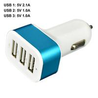 새로운 트리플 USB 범용 자동차 충전기 3 포트 자동차 충전기 어댑터 소켓 2.1A 1A 자동차 아이폰 삼성 전자 LG 충전기 스타일링