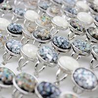Color de la mezcla de 20 piezas de plata plateado moda de la manera simple dedo de la joyería anillo para las mujeres barato precio de fábrica