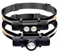 XM-L2 Mini LED-koplamp USB Oplaadbare 18650 Batttery Draagbare Waterdichte Visfiets Fietsen Koplamp Torch Light Aluminiumlegering
