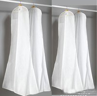 2019 최근 재고 있음 저렴한 웨딩 드레스 가운에 대한 큰 가방 화이트 먼지 봉투 긴 의류 커버 여행 스토리지 먼지 커버 고품질