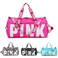 Men Women Pink Travel Bags Large Capacity Duffle PINK Letter...