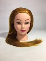 Poupées de coiffure de 65 cm tête mannequin féminin coiffure coiffure tête de haute qualité mannequin tête haute température fiber