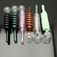 Coloré multi cuiseur à spirale en verre bongs en verre Brûleur à mazout en verre tuyaux d'eau Rigs de pétrole Fumer, Livraison gratuite