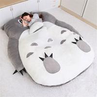 Dorimytrader Anime Totoro Sacco a pelo morbido peluche Grande Cartoon Totoro divano-letto Tatami Beanbag per camera regalo dei bambini decorazioni DY50224
