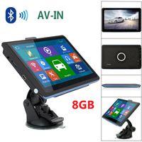 "HD 7 ""Navigatore GPS per auto Vivavoce Bluetooth AVIN Navigazione per camion 128M 8GB POI TTS Mappe di navigazione satellitare 3D IGO"