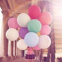 36 inç Büyük Yuvarlak Lateks Balon 14 Renkler Düğün Dekorasyon Baloons Bebek Doğum Günü Partisi sevgililer Günü Dekor Dev Balon