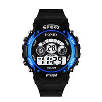 Fashion HONHX children boys girls sport led digital watch el...