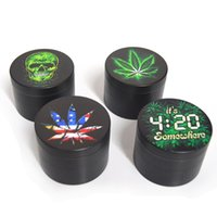 Herb Grinder 4 Layers 55mm Diameter Leaf Zinc Alloy Tobacco ...