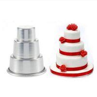 2020 оптовые продажи DIY Mini 3-уровня кекс пудинг шоколадный торт плесень для выставки прессформы