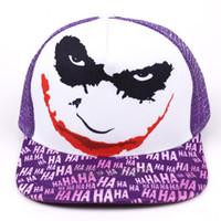 The Joker Print Snapback Hat Hombres Mujeres Summer Caps Sombreros Cool Novedad Hip Hop Gorra de béisbol