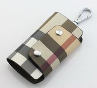 Nueva alta calidad de cuero Genuino hombres @ mujeres coche clave billetera moda de dos tonos monederos 10 * 5.8 cm no926