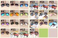 Europa e EUA quente óculos de sol, esporte ciclismo olho óculos de sol para homens moda cor dazzle espelhos óculos óculos de armação 22colors