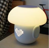 변경 가능한 정신 램프 앱 지능형 알람 시계 밤 빛 지능형 감정 블루투스 음악 LED 도트 매트릭스 분위기 램프