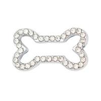 Nouveau Style 10mm Plein Strass Chien Os Glissière Charmes Fit 10mm Bracelet Bracelet Collier De Collier DIY Diapositive Charmes Bijoux Fabrication SL543