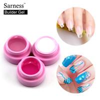 Saroline Consigli fai da te Nail Art Rafforzamento manicure 3 colori puri impregna fuori UV del costruttore solido gel UV Set per arte del chiodo
